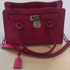 Michael Kors Hot Pink Hamilton Satchel